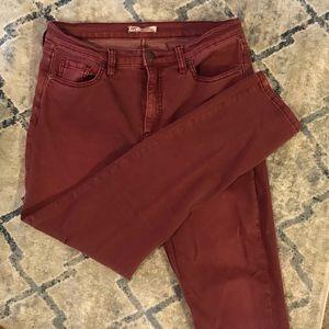 Free People maroon skinny jean